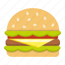 beef, diet, fast, food, hamburger, meal, sandwich icon