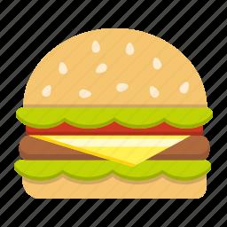 beef, diet, fast, food, hamburger, meal, sandwich icon