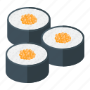 asian, food, japanese, lunch, roll, sea, sushi icon