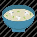 bowl, cook, dinner, food, mushroom, restaurant, soup