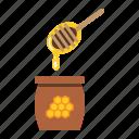 bee, beehive, food, healthy, honey, ladle, sweet