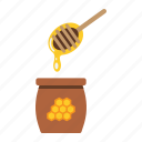 bee, beehive, food, healthy, honey, ladle, sweet icon