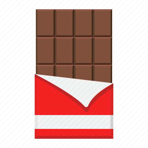 bar, candy, chocolate, cocoa, dessert, food, sweet icon