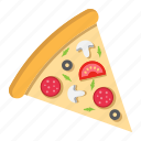 fast, food, italian, piece, pizza, restaurant, slice icon
