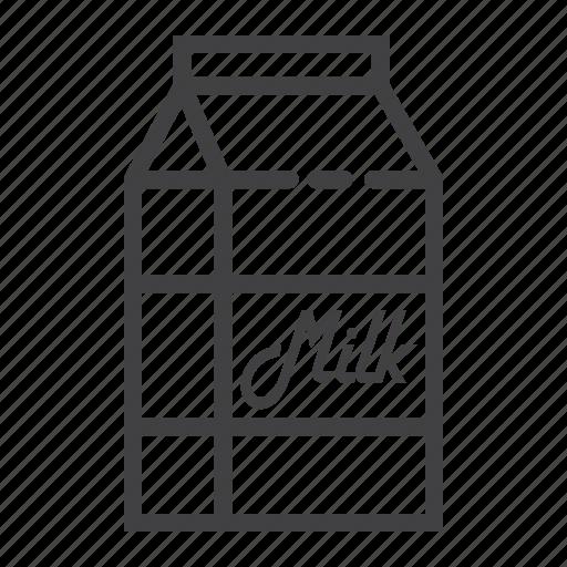box, carton, dairy, drink, food, milk, package icon