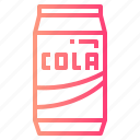 can, cola, drink, sparking, water icon
