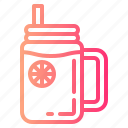 fresh, lemon, slice, soda icon