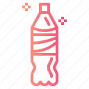 bottle, cola, drink, sparking, water icon