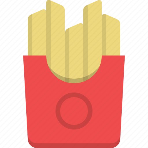 chips, fast food, food, fried potatoes, kitchen, potatoes icon