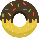breakfast, cookie, dessert, donut, food, sweet icon