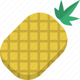 exotic, fruit, natural, organic, pineapple, raw food icon