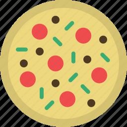 capricciosa, food, kitchen, meal, pizza, restaurant icon