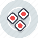 food, kitchen, meal, plate, restaurant, sushi icon