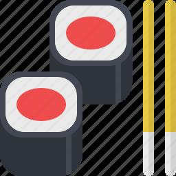 fish, food, japanese, meal, restaurant, sushi icon