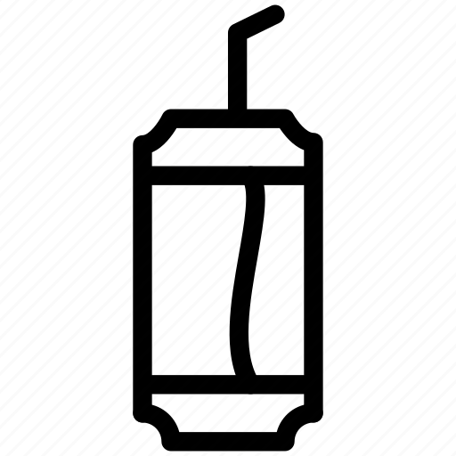 can, coke, creative, drink, grid, juice, pepsi, refresh, shape, straw, trash icon