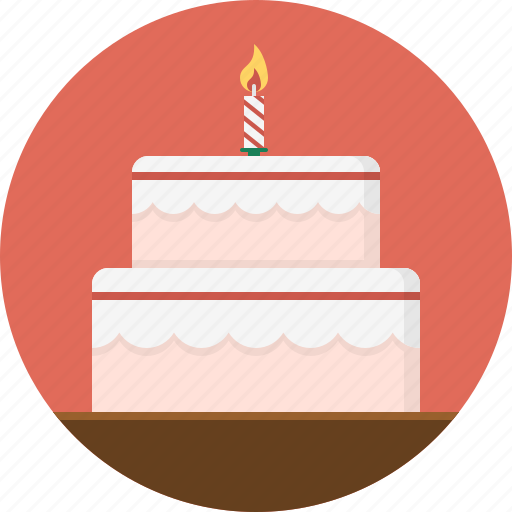Birthday cake, cake, candle, dessert icon - Download