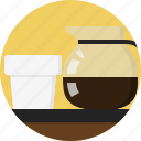 black cafe, caffe, cap, coffee, pitcher icon