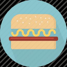 fastfood, food, hamburger icon