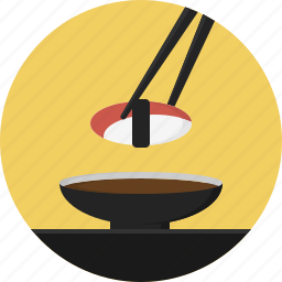 chopstick, food, sushi icon