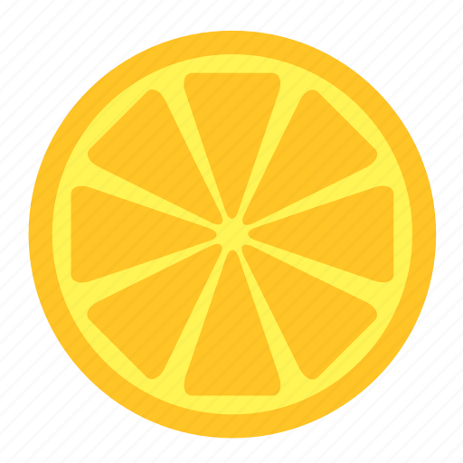 food, fruit, half, lemon, slice, yellow icon