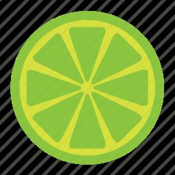 citrus, food, fruit, green, half, lemon, lime icon