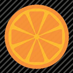 citrus, food, fruit, half, orange, slice icon