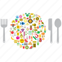 cutlery, dish, eat, food, restaurant icon