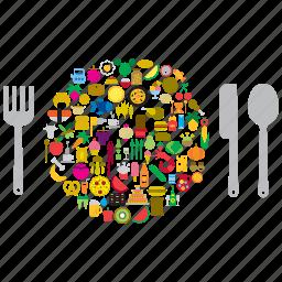 cutlery, dish, eat, food, restaurant icon
