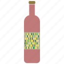 beverage, bottle, drink, red, wine icon