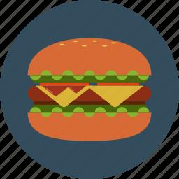 big mac, bread, fast food, hamburger icon