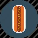 sausage, hotdog, bread