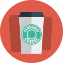 coffee, takeaway, starbucks, takeaway coffee, cup icon