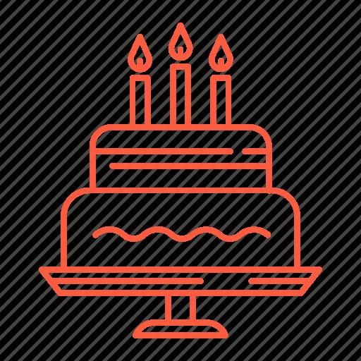 birthday, birthday cake, cake, candles, dessert, surprise, sweets icon