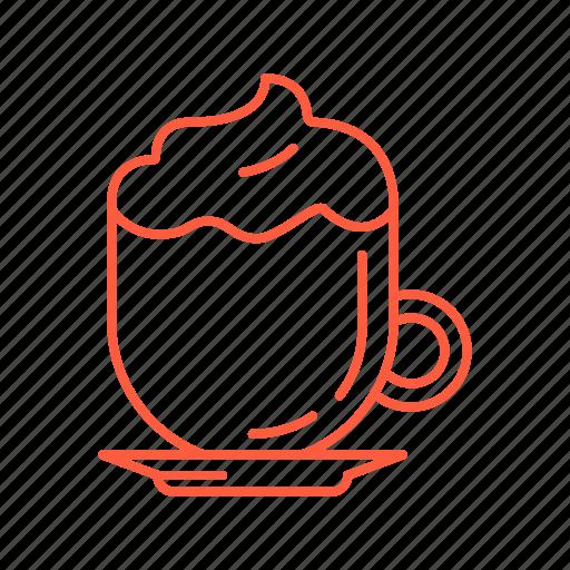 cafe, cappuccino, coffee, drink, espresso, latte, restaurant icon