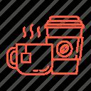 cafe, cappuccino, coffee, espresso, latte, restaurant, tea icon