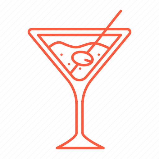 cafe, cocktail, drink, martini, olive, restaurant icon