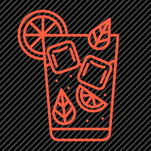 cafe, cocktail, drink, ice, lemonade, mojito, restaurant icon