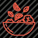cafe, food, lemon, restaurant, salad, vegan, vegetables icon