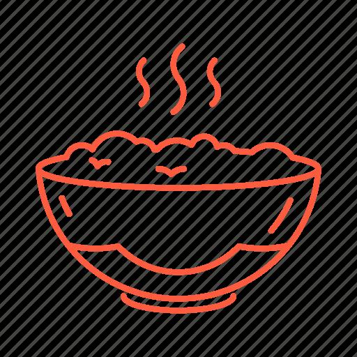 breakfast, cafe, food, porridge, restaurant icon