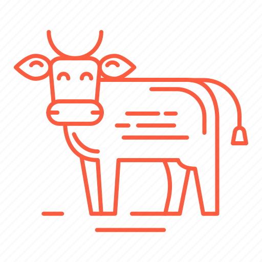 bull, calf, cow, food, meat, restaurant, steak icon