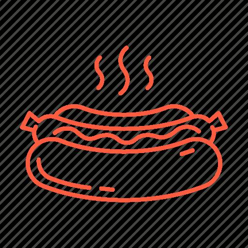 cafe, food, hotdog, lunch, restaurant, sausage, street food icon