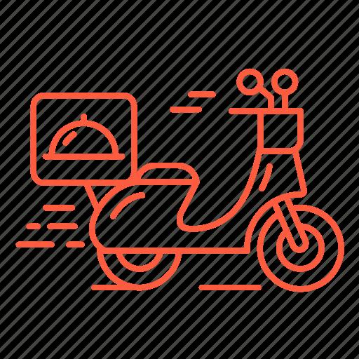 bike, cafe, delivery, food, motobike, restaurant icon