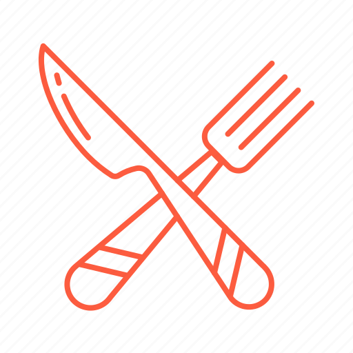 cafe, cutlery, fork, kitchen, knife, restaurant icon
