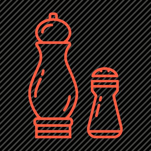 cafe, drink, food, pepper, restaurant, salt, seasoning icon
