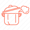 food, kitchen, pan, pot, restaurant, stewpot icon