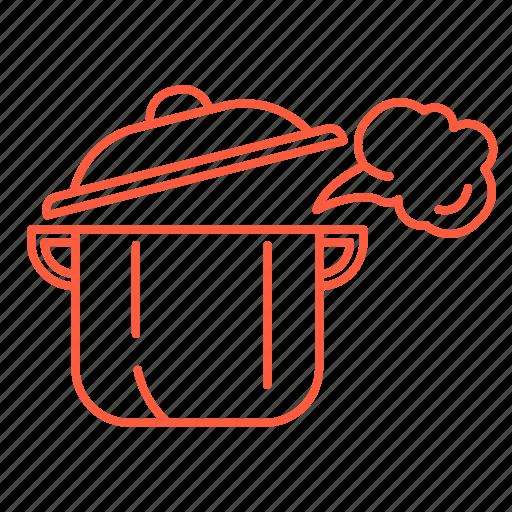 food, kitchen, pan, pot, restaurant, stewpot icon