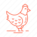 bird, cafe, chicken, food, hen, restaurant icon