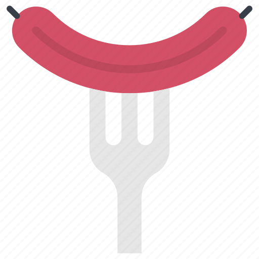 Barbecue fork, barbecue sausage, bbq, hotdog, sausage icon - Download on Iconfinder