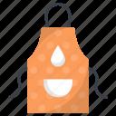 apron, chef apron, chef uniform, cook uniform, kitchen pinafore icon