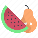 banana, food, fruits, watermelon, watermelon slice